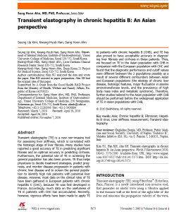 Transient Elastography In Chronic Hepatitis_B